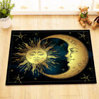 Moon and Sun Fabric Shower Curtain Set Polyester Sheer 12 Hooks Bath Accessories