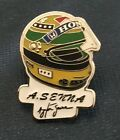 AYRTON SENNA ENAMEL PIN BADGE - MOTOR RACING LEGENDS 1/10 TO COLLECT LTD EDITION