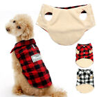 Soft Fleece Lined Dog Clothes Pet Puppy Winter Coats Jacket Shirts Outfits S M L