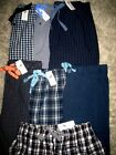 LT New $49 Mens LG Tall Cotton Pajama Pants Pockets/Button Fly/Stretch Tie Waist