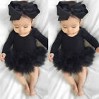 Baby - US Stock Newborn Baby Girl Romper Jumpsuit Bodysuit Clothes Headband Outfit Sets