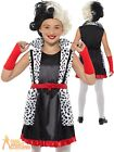 Child Evil Little Madame Costume Cruella Book Week Day Fancy Dress Outfit Kids