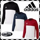 Adidas T16 Mens Sweatshirt CLIMALITE Sports Crew Neck Track Jumper - CLEARANCE
