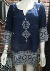 Внешний вид - Liz Lange Women's Maternity Peasant Printed Top Blue XL & XXL NWT Free Shipping