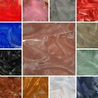 "1M  SHINEY  ORGANZA  BRIDAL DECORATING  DRESS FABRIC  58"" WIDE"