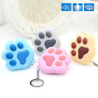 Fashion Cute Cat Paw LED Keychain with Sound Christmas Children Creative Gift MO