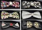 Pre-Tied Crystal Bow Tie Bussniess Tuxedo Shirt Bowtie Necktie Cravats Wedding
