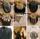 1PC Gothic Punk Rivet Stud Spike Tassel Epaulette Shoulder Board Mark Brooch