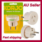 Korjo European Travel Adaptor For Europe/Middle East/Asia/Bali From Australia/NZ