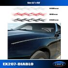 Flame Diablo PinStripe Rollstripe Graphic Decal Car Truck High Quality EgraF-X