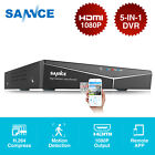 SANNCE 5in1 8CH 1080P HDMI DVR Video Recorder for Security Camera System 0-4TB