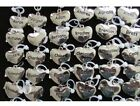 NEW Beautiful Puffed Ganz Stainless Steel Heart Charms With Names on both sides image