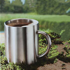 1PC Double Wall Polished Stainless Steel COFFEE CUP Beverage Hot Tea Mug Cup xxf