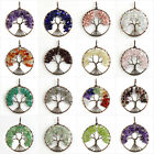 Amethyst Reiki Chakra Healing Copper Chip Beads Tree of Life Necklace Pendant