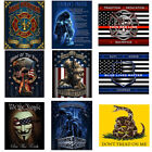 Throw Blanket Patriotic Gifts USA Flag Military Soldier Firefighter Police image
