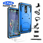 For LG K20 Plus / K20 V / Harmony Shockproof Hybrid Protective Phone Case Cover