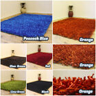 NEW MODERN 5CM THICK SMALL LARGE SHINY MULTI COLOR SHIMMER SHAGGY CLEARANCE RUG
