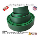 Kelly Green Leather Strips 6-7 oz up to 96 in long - up to 3 in wide - Craft USA