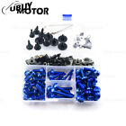 CNC Alloy Motorcycle Complete Fairing Bolt Kit Bodywork Screws Nuts For KAWASAKI