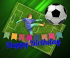 New Boys/Mens Personalised FOOTBALL, Soccer Birthday Card UK Seller