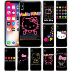 Cute Hello Kitty Black Pattern Phone Case Cover For iPhone Samsung LG Motorola