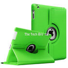 Luxury PU Leather Smart Cover 360 Ratating Holder Case For iPad 2 3 4