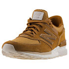 New Balance Ms574 Sport Classic Mens Tan Suede & Mesh Casual Trainers Lace-up