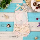 Baby Infant Fashion Romper Sleeveless Backless Mermaid Ruffled Jumpsuit Clothes