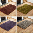 CLEARANCE RUG LARGE RUGS 7CM THICK PILE WOOL SHAGGY RED GREEN PURPLE GREY RUGS
