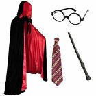 ADULTS DELUXE COMPLETE WIZARD FANCY DRESS COSTUME ROBE OUTFIT BOOK WEEK