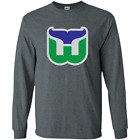 Hartford New England Whalers Connecticut Hockey Retro Defunct Jersey Log