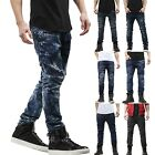 PI Mens SKINNY JEANS STRETCH Distressed Ripped Denim Pants Casual Slim Fit