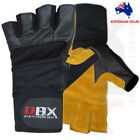 Weight Lifting Gloves Gym Workout Fitness Training Long Wrist Straps
