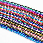 Multicoloured 70cm 1.0mm  Ball Bead Chain Necklace! Soldier Tag