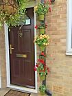 """6 plant pot rings.Hang plants in 5"""" pots on a drain pipe.includes cable ties."""