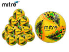BRAND NEW 10x MITRE 2018 - DELTA MAX FOOTBALL - YELLOW/GREEN/BLUE SIZE 3,4,5