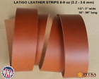 Russet Latigo Leather Strips 8-9 oz - up to 96 in long - craft, accessories - US