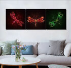 Fairy Tale Dragonfly Oil Painting Abstract Art Print Canvas Wall Decor Set Frame