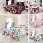 Lions Modern Butterfly Printed Quilt Duvet Cover Bedding Set With Pillow Cases