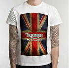Triumph Motorcycle Biker Custom Mens T-Shirt 100 Cotton Short Sleeve $25.70 CAD on eBay
