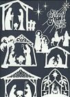 3 GROUPS COMBINED BORDERS STAR NATIVITY DIE CUTS* SUB-SETS LOTS 6 - 24 PCS. READ