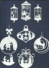 2 GROUPS COMBINED CHRISTMAS ORNAMENT RELIGIOUS DIE CUTS* SUB-SETS LOTS 4-10 READ