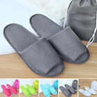 Womens Mens House Indoor Slippers Home Warm Cotton Shoes Sandals Anti Slip Pair