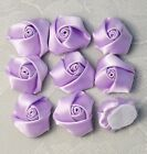 8 pcs 1 Inch Ribbon Roses CHOOSE: Pink Lavender Taupe Dusty Rose U-PICK