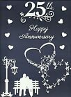 LOTS 3 - 7 PCS. SUB-SETS 25TH ANNIVERSARY DIE CUTS* COUPLE BENCH HEARTS READ