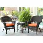3-Piece Resin Wicker Patio Chair & End Table Set by Jeco