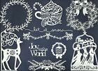 LOTS 4 -12 PCS. SUB-SETS SPECIAL CHRISTMAS-3 DIE CUTS* WREATH KINGS GARLAND READ