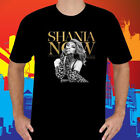 New Shania Twain Tour 2018 Music Legend Singer Men's Black T-Shirt Size S to 3XL image