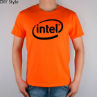 Intel T-shirt Top Lycra Cotton Men T shirt