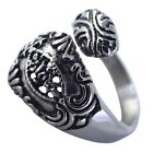 Victorian Style Spoon Ring Womens Silver Stainless Steel Steampunk Band